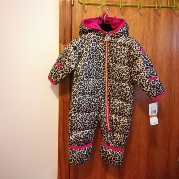 748e70817 Michael Kors Other | Pink And Leopard Snowsuit | Poshmark
